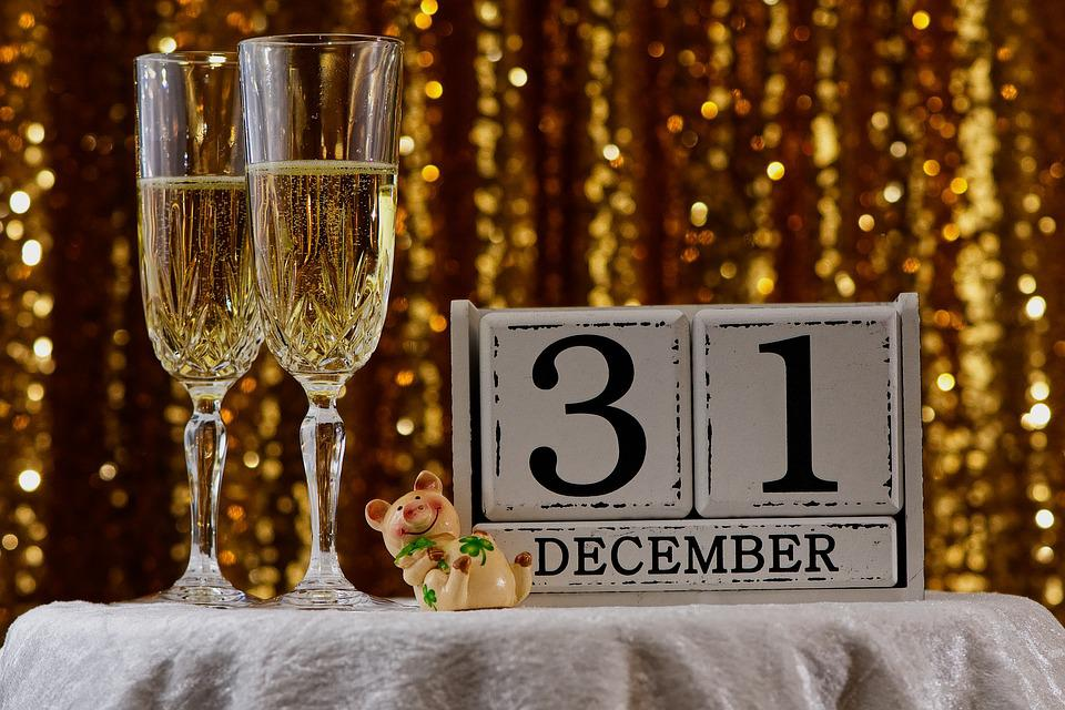 New Year's Eve, New Year's Day, Party, Champagne