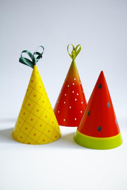 Party, Party Hats, Fruit, Fruit Hat, Party Hat