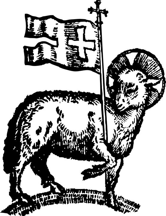 Paschal Lamb, Easter, Lamb, Flag, Holidays