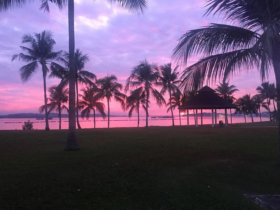 Singapore, Beach, Sunrise, Pasir Ris