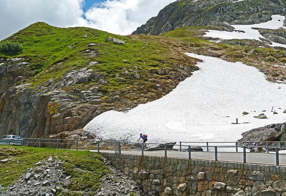 Mountain Pass, Summer, Pass Driving, Road Bike