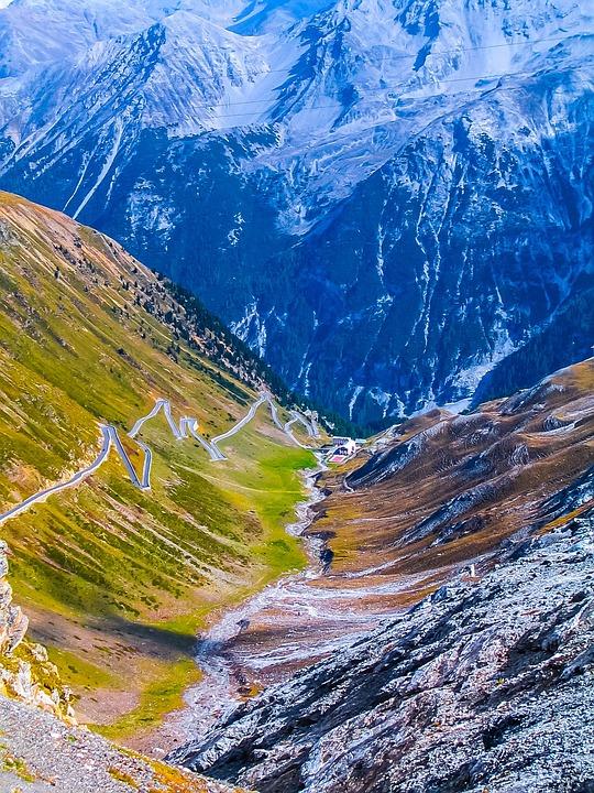 Mountains, Landscape, Pass Road