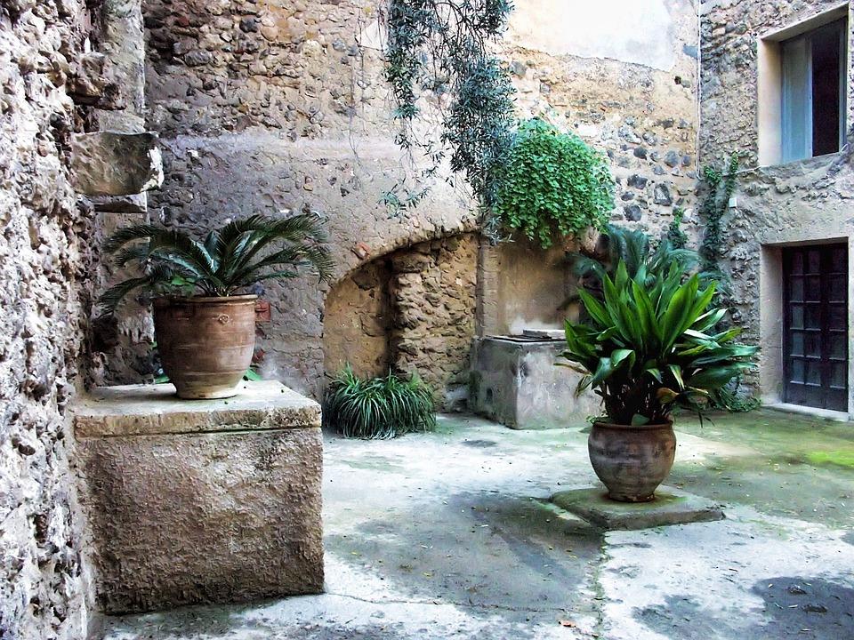 Italy, Ischia, Castello Aragonese, Passage, Stone, Wall