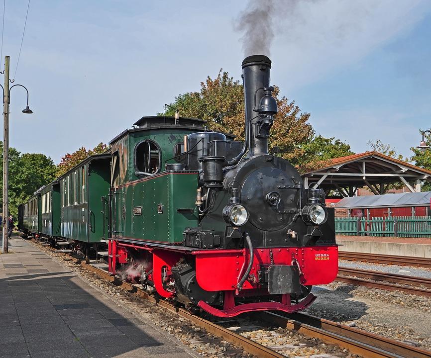 Steam Locomotive, Locomotive, Passenger Train, Train