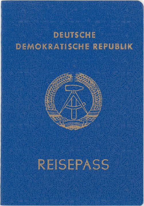Passport, Lack Of Article Once, Ddr, Yesterday