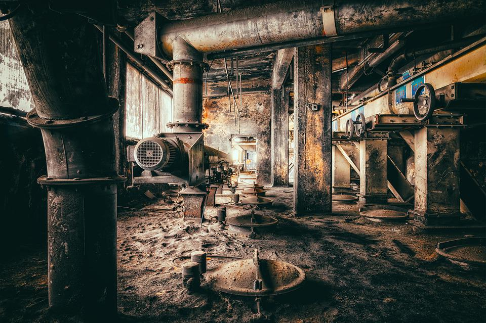 Industry, Factory, Pforphoto, Industrial Plant, Past
