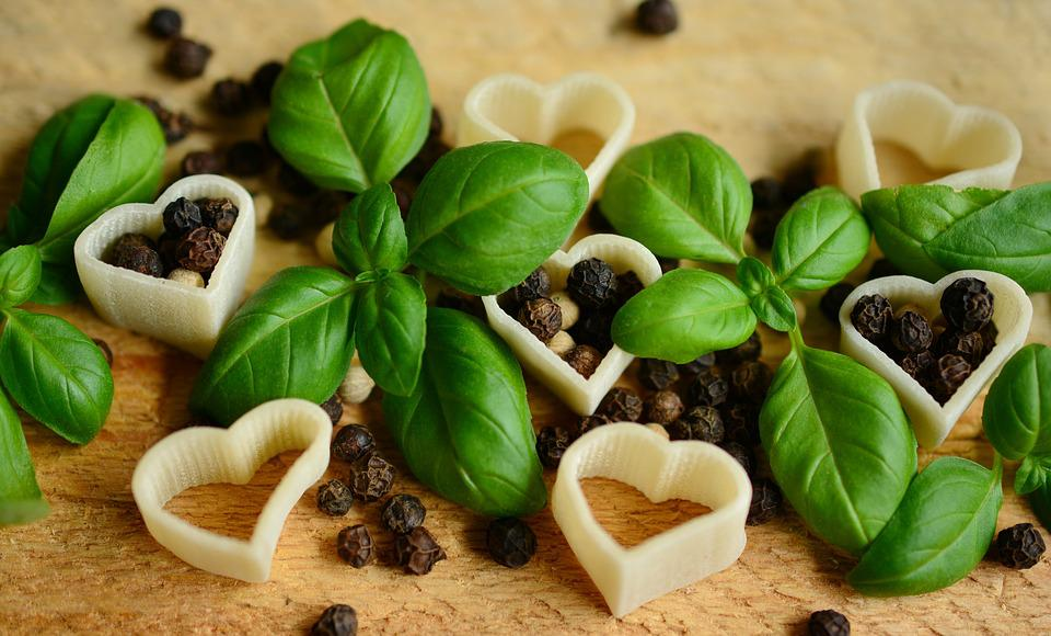 Basil, Pepper, Peppercorns, Noodles, Pasta