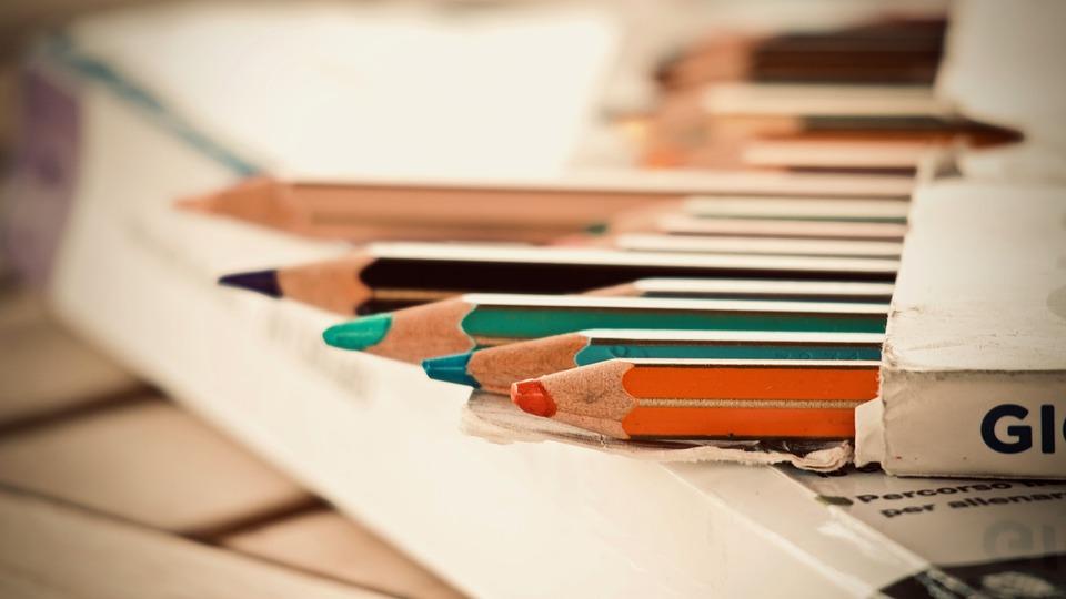 Colors, Pastels, Fun, School, Draw, Children, To Write