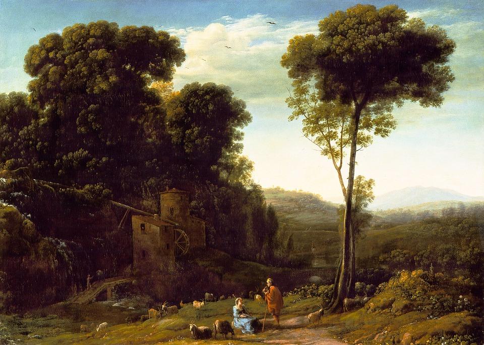 Claude Lorrain, Pastrol Landscape, Oil Painting