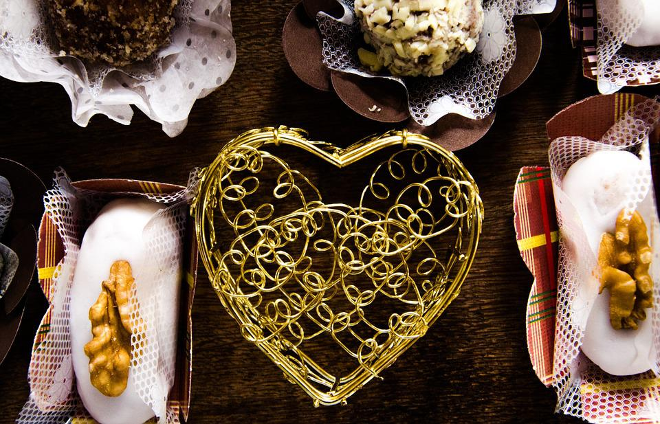 Pastry, Heart, Decoration, Cameo