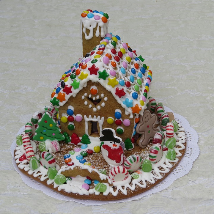 Gingerbread House, Pastry, Gingerbread, Decoration
