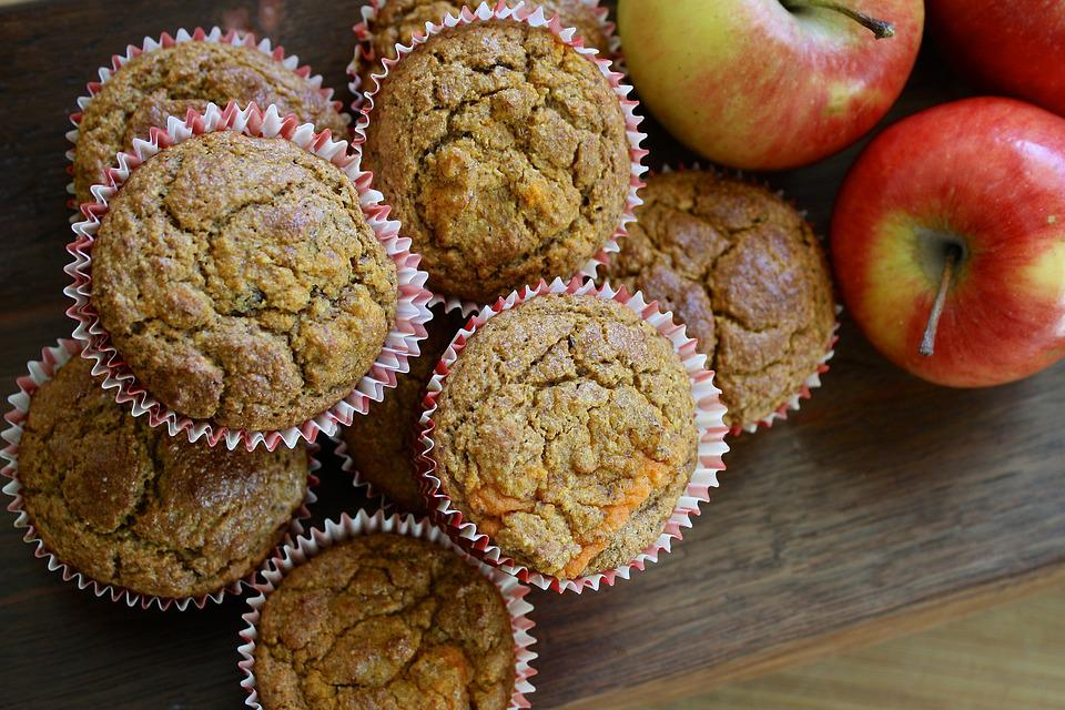 Muffin, Apple, Carrot, Homemade, Cinnamon, Pastry, Food