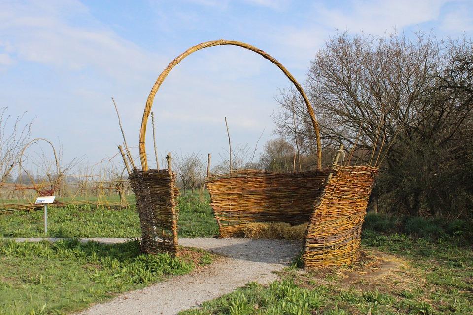 Basket, Pasture, Braid, Nature