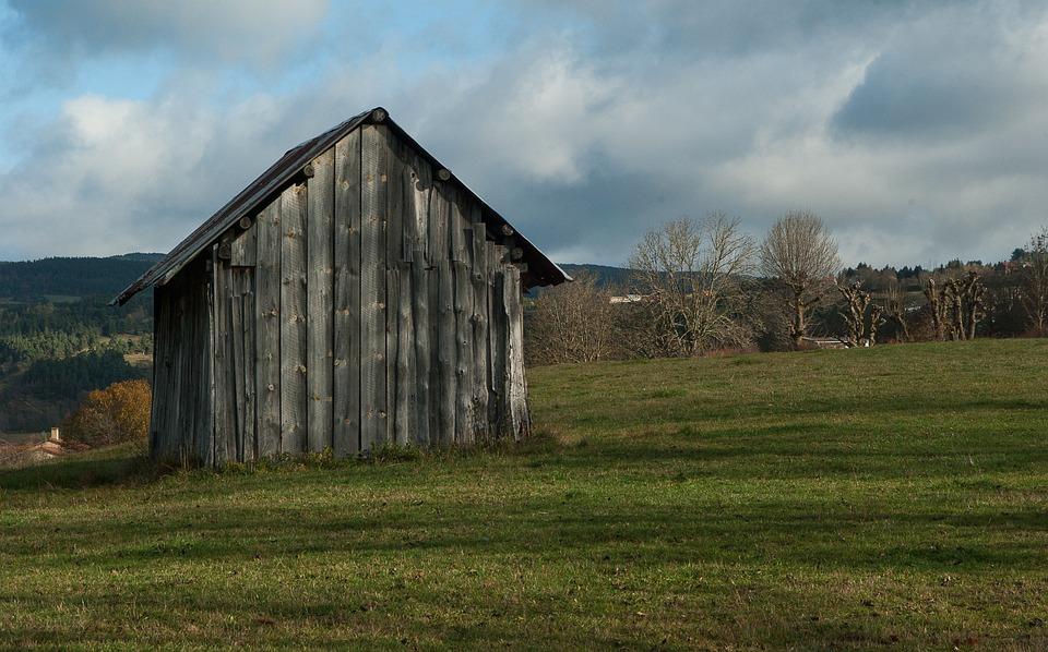 Lozère, Pasture, Cabin, Shelter