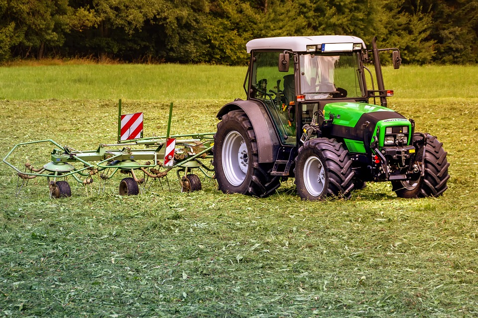 Tractors, Tractor, Mower, Pasture, Meadow, Agriculture