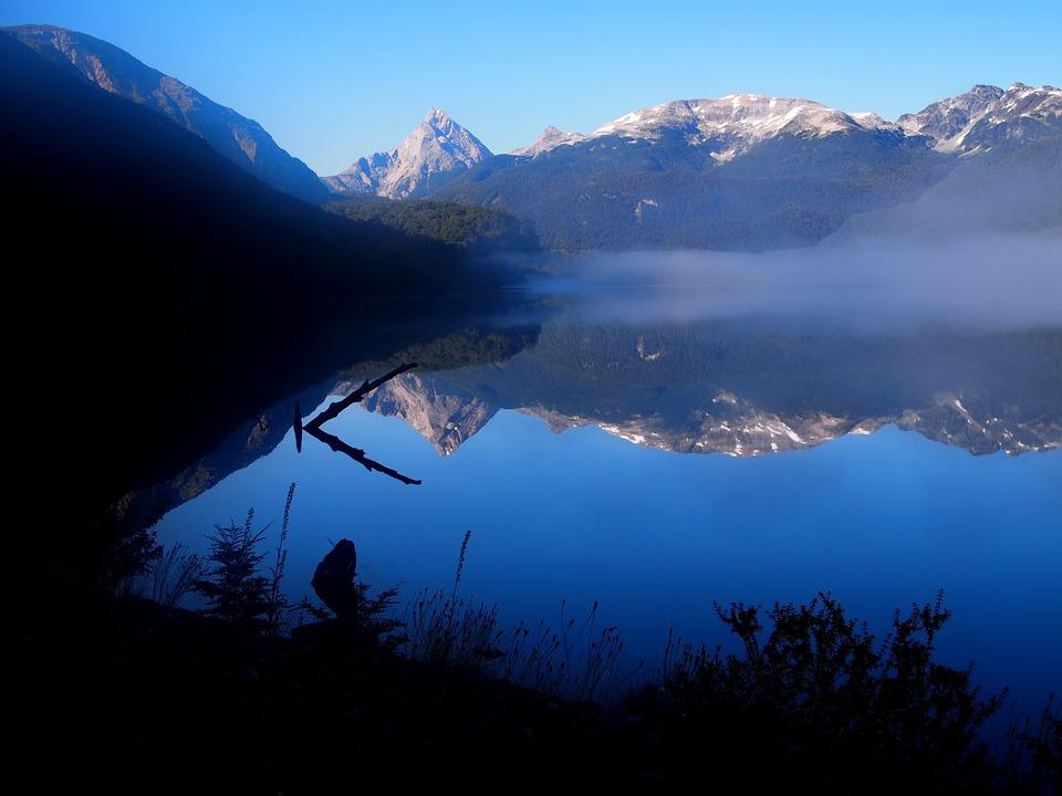 Patagonia, Mountains, Reflections