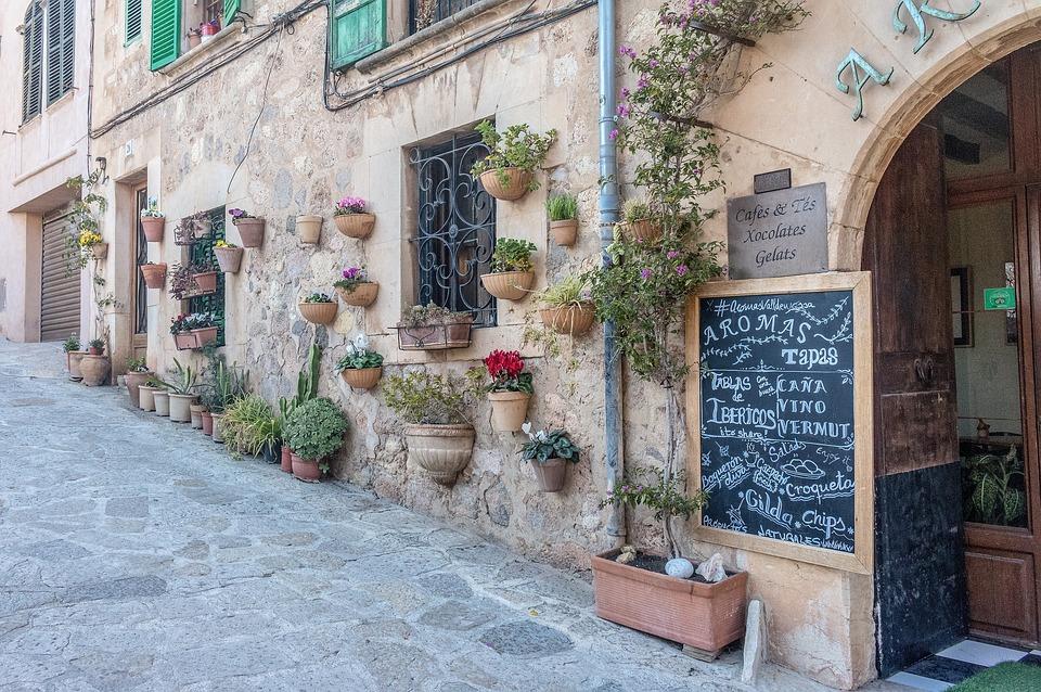 Mallorca, Valldemossa, Architecture, Road, Home, Patch