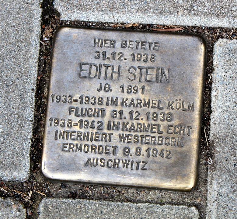 Stumbling Stone, Patch, Edith Stein, Paving Stones