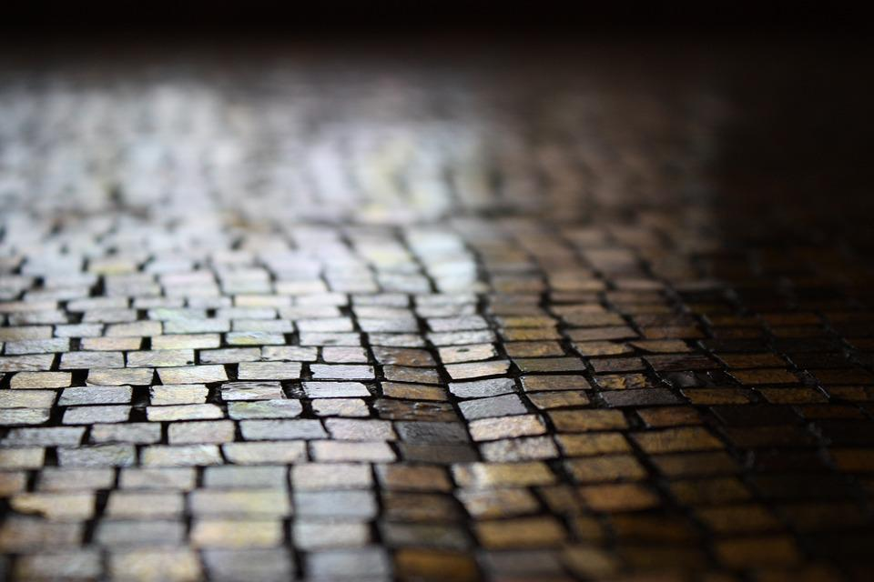 Pfalstersteine, Patch, Away, Road, Mosaic, Architecture