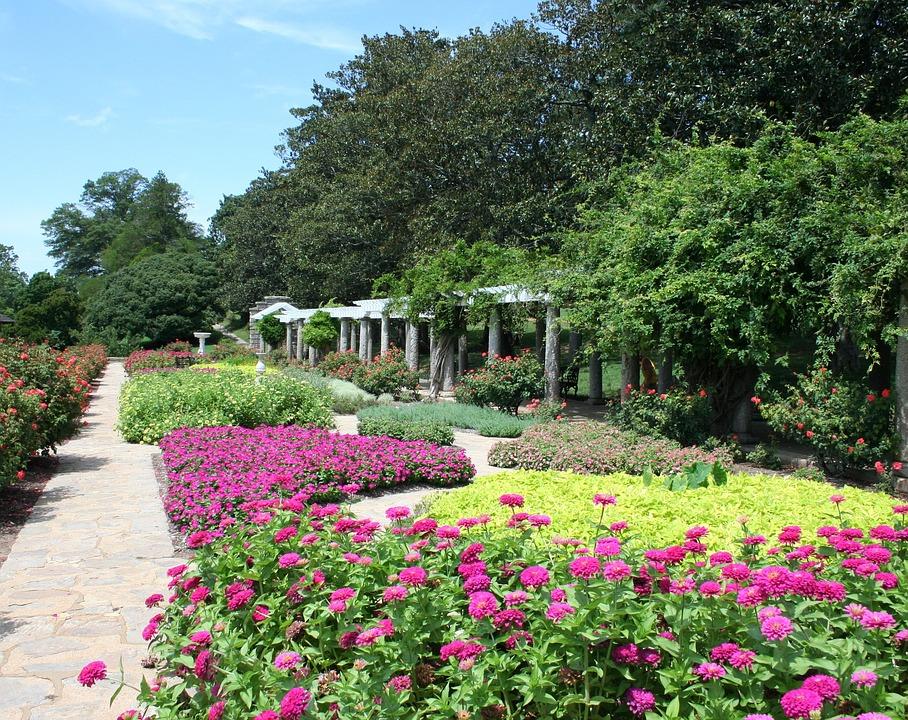 flower beds garden path shade arbor path garden - Flower Garden Path