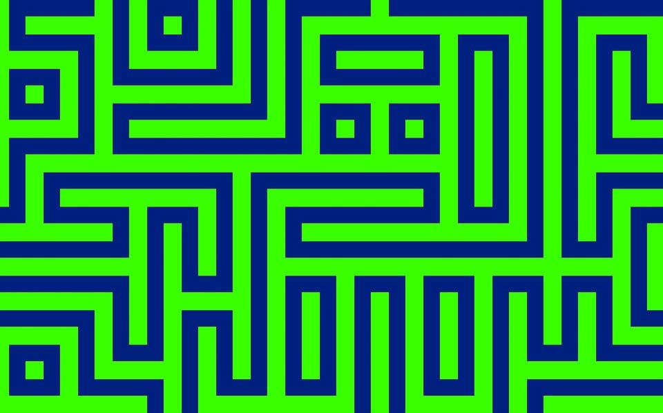 Maze, Path, Labyrinth, Green Path