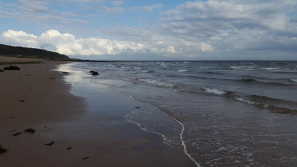 Isle Of Arran, Scotland, Beach, Sky, Path, Vacation