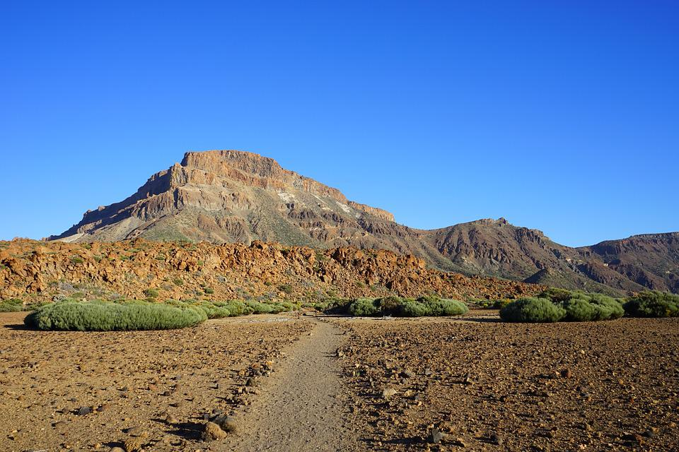 Guajara, Away, Path, Mountain, Lava, Rock, Stone Desert