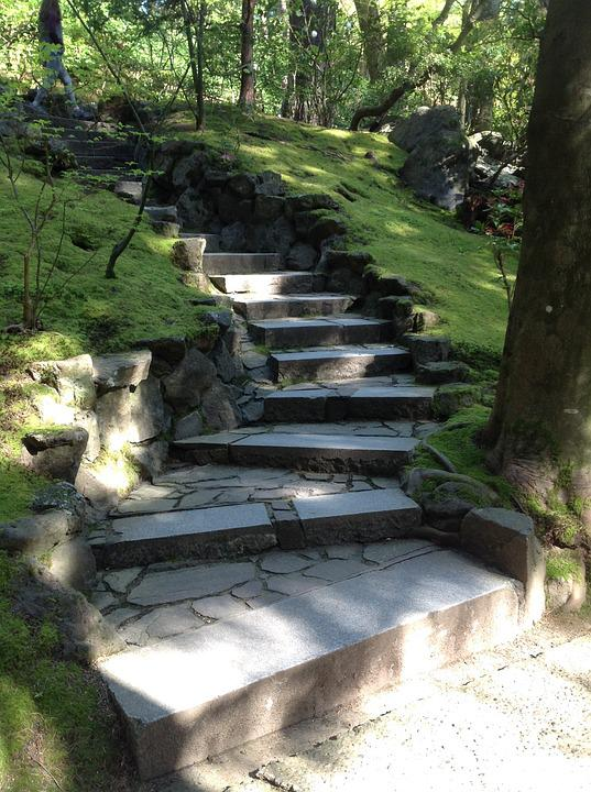 Stairs, Path, Portland Japanese Garden
