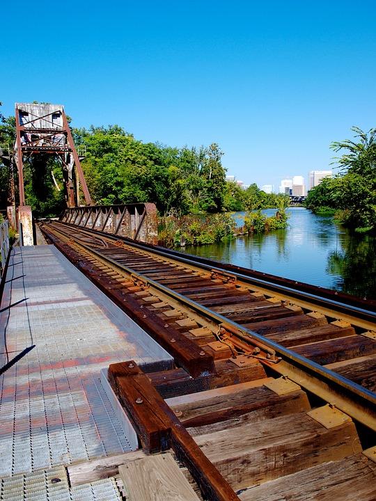 Railroad Tracks, Perspective, Train Tracks, Path