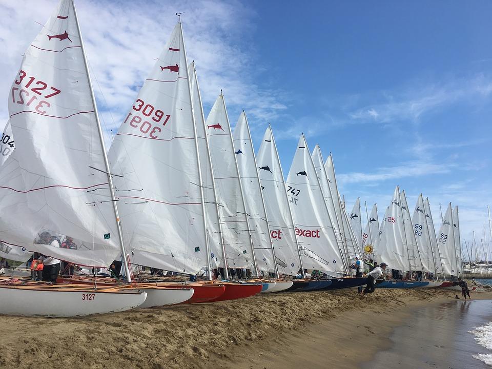 Patin De Vela, Sailing, Catalunya Cup, Blue Cup