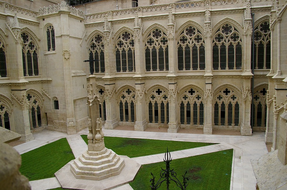 Patio, Cathedral, Burgos, Architecture, Gothic Art