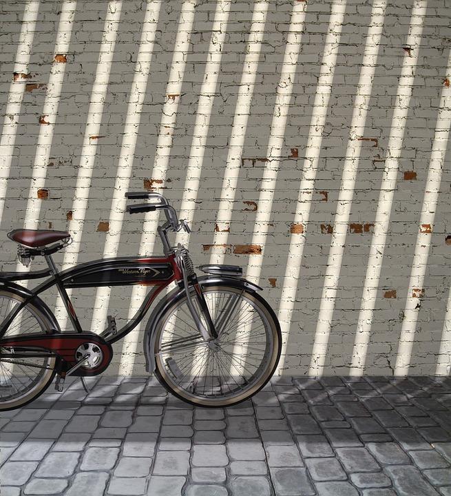 Patio Portrait Background Sunny Model Retro Bike