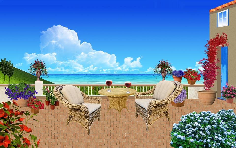 Seaside, Patio, Rattan Furniture, Armchairs