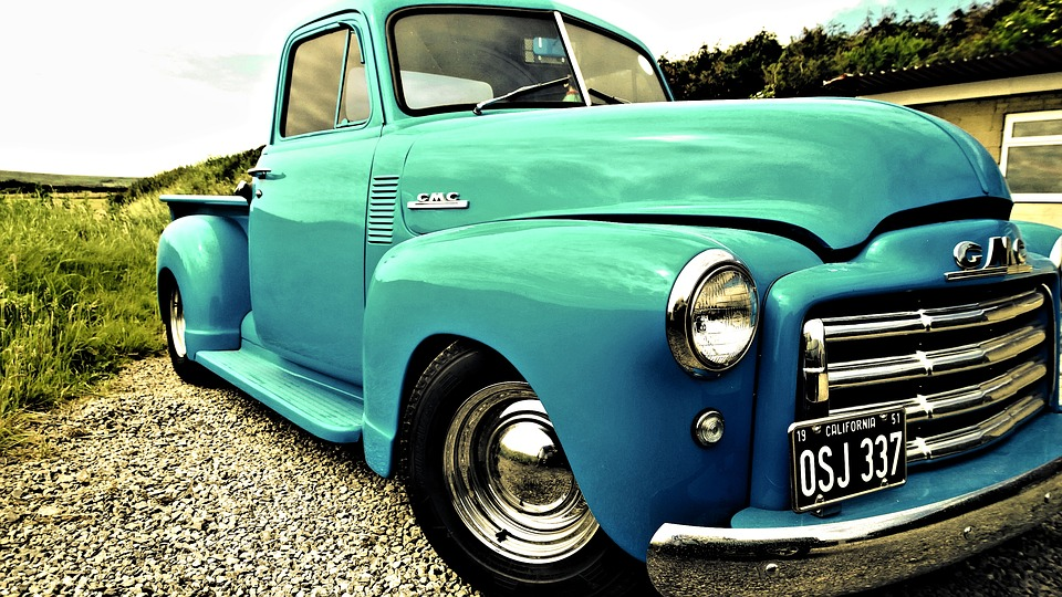 Free photo Patriotic Vintage Usa States American Retro Truck - Max Pixel