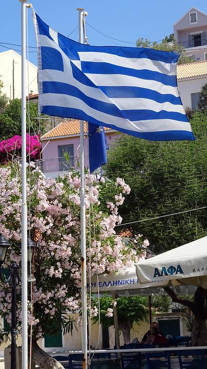 Greece, Flag, Greek, National, Blue, White, Patriotism