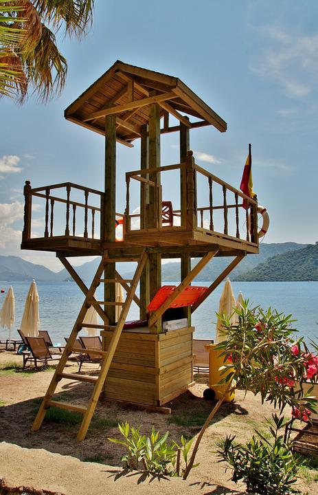 Lifeguard, Tower, Patrol, Sea, Guard, Beach
