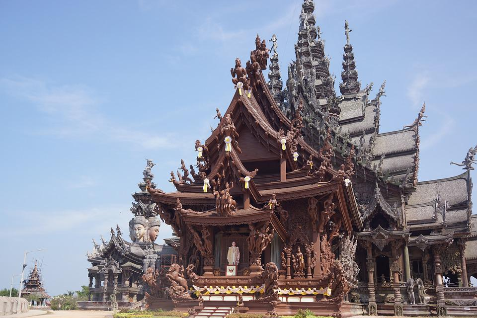 Sanctuary Of Truth, Temple, Wooden, Shrine, Pattaya