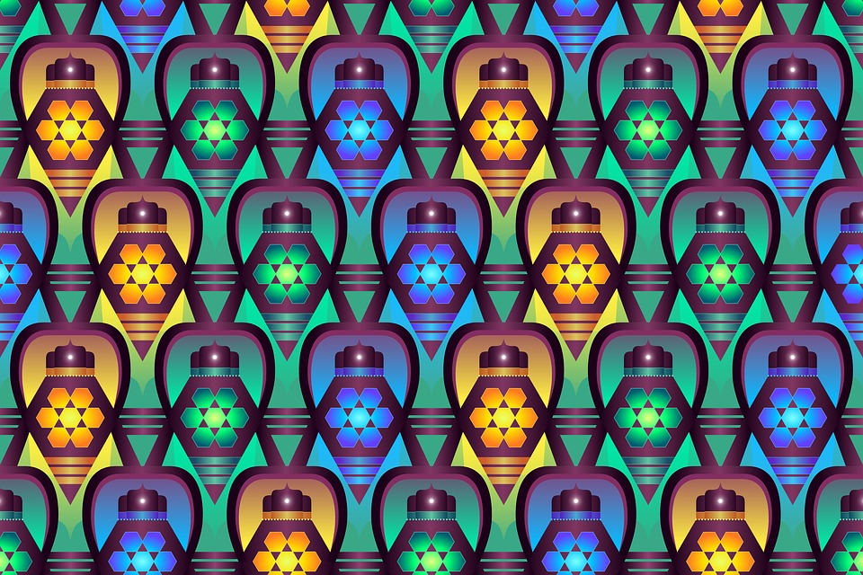 Pattern, Background, Bright, Blue, Green, Moroccan