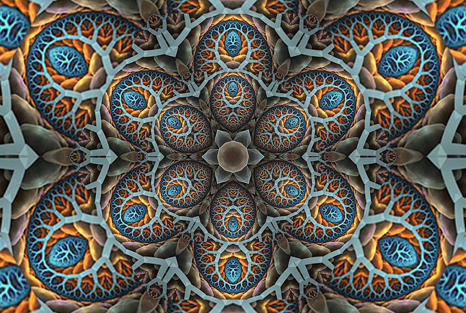 Abstract, Kaleidoscope, Colorful, Background, Pattern