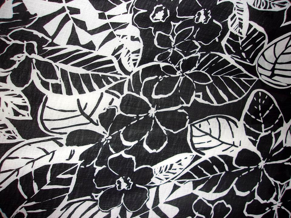 Flowers, Design, Pattern, Black And White, Floral