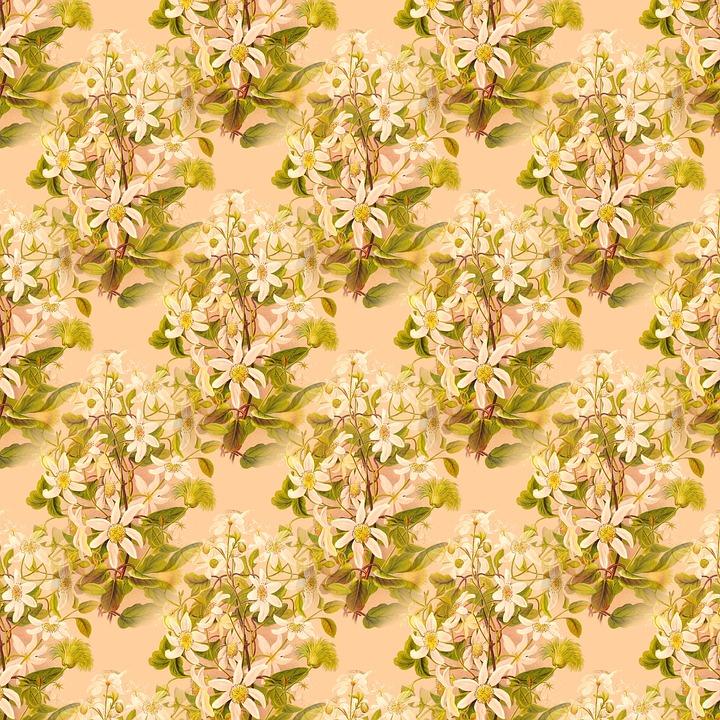 Scrapbook, Floral, Botanical, Decorative, Pattern