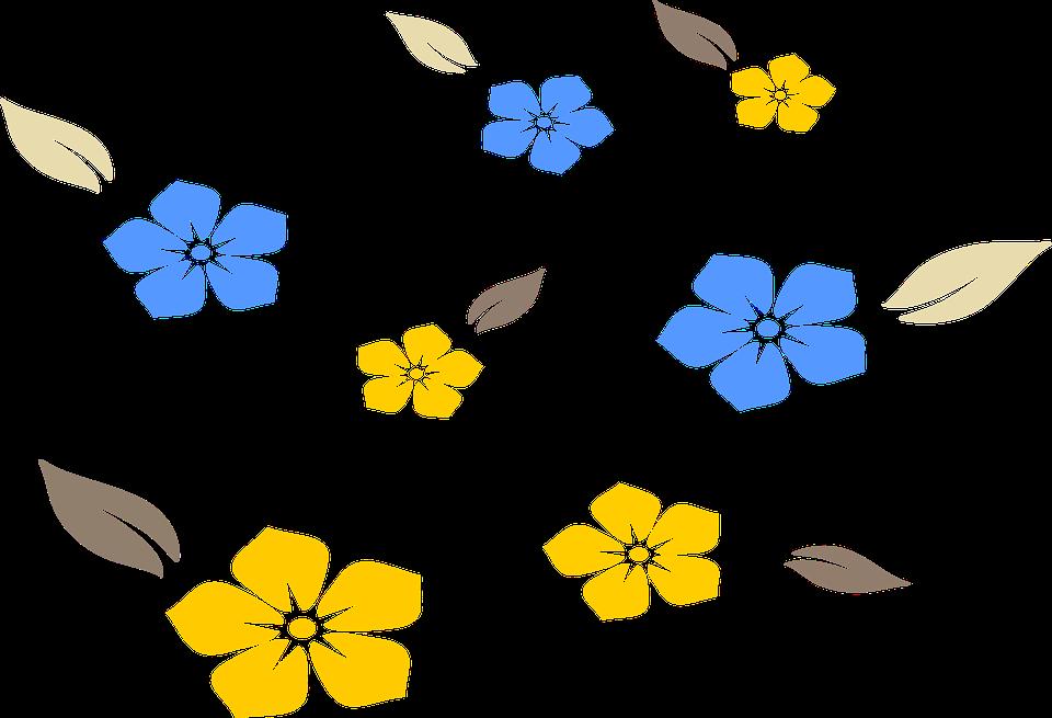 Flowers, Pattern, Plot, Yellow, Flower, Stamping