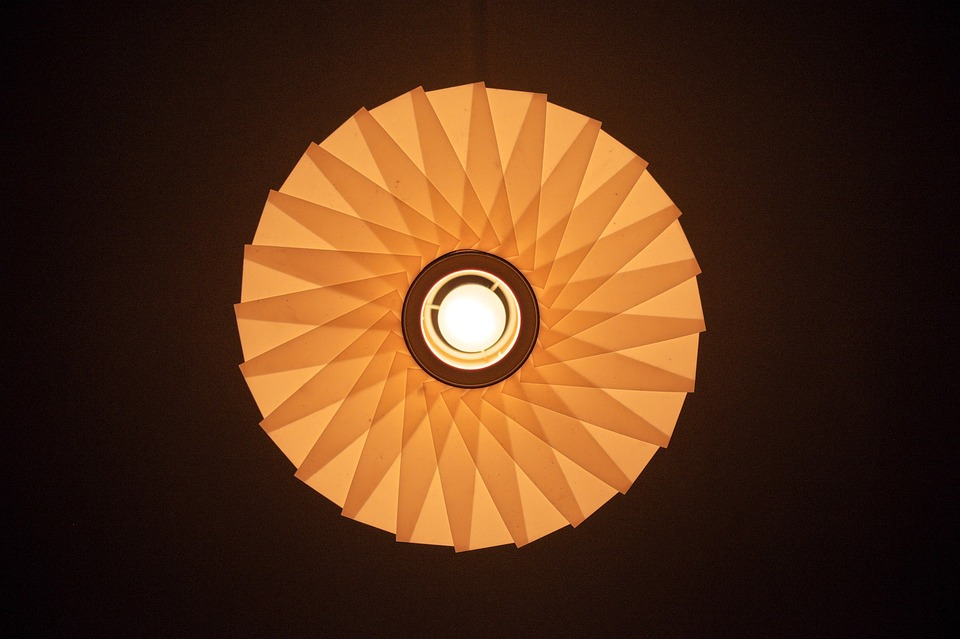 Abstract, Lamp, Pattern, Pear, Yellow, Reflection