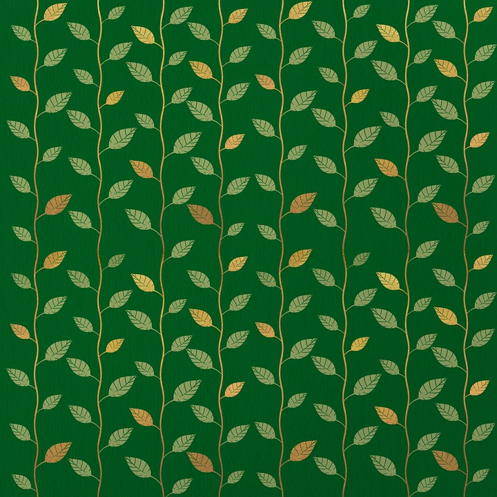 Leaves, Pattern, Green, Background, Scrapbooking
