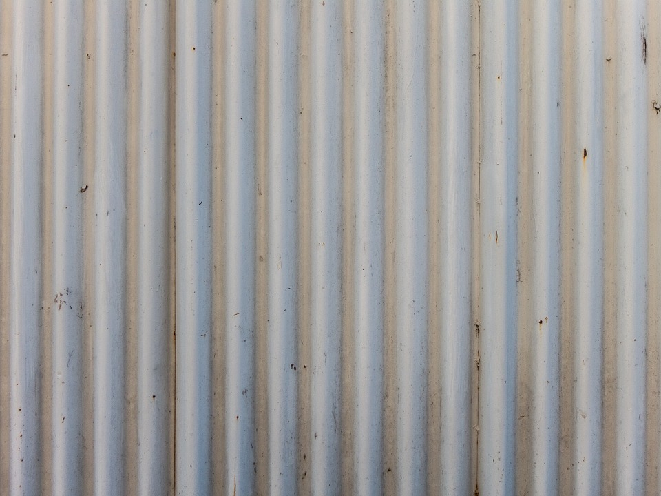 Corrugated, Iron, Fence, Roof, Metal, Texture, Pattern