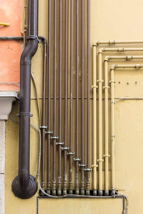 Water Pipes, Lines, Pipes, Pattern, Water Pipe, Metal