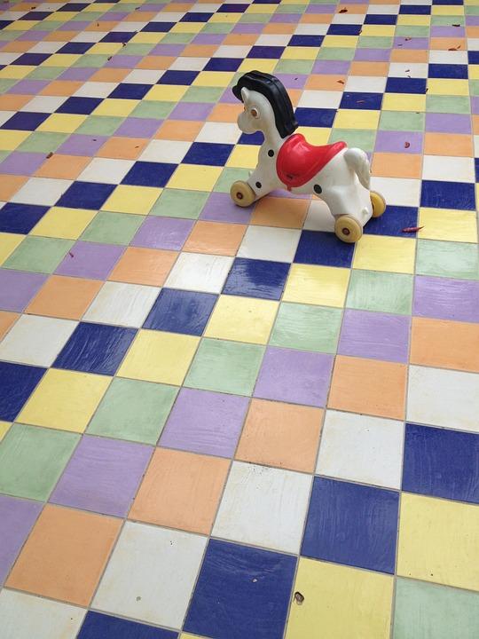 Pattern, Rocking Horse, Karos, Colorful, Scenery