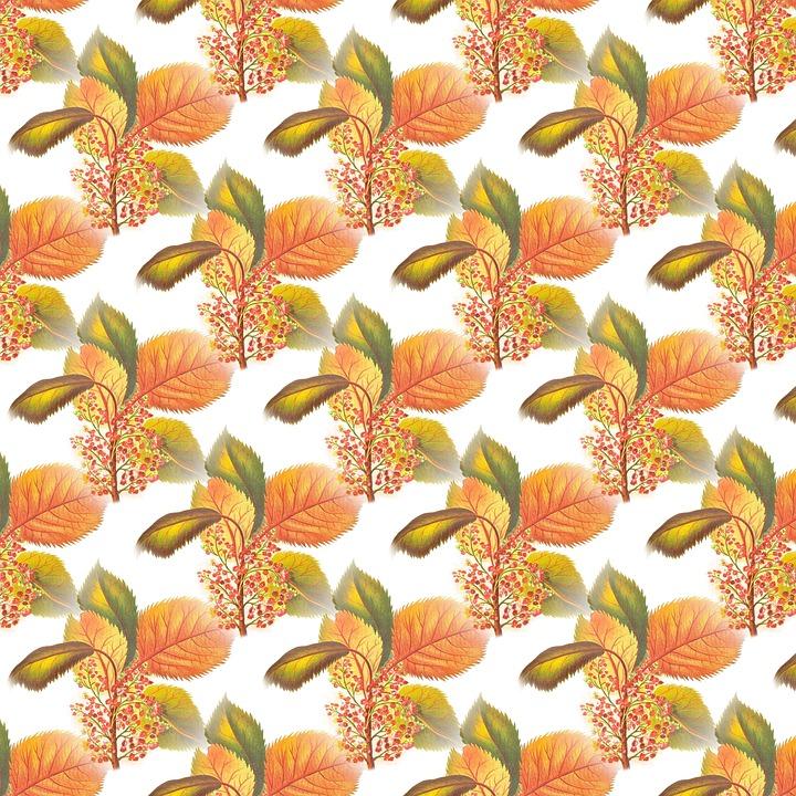 Scrapbook, Botanical, Leaves, Autumn, Pattern