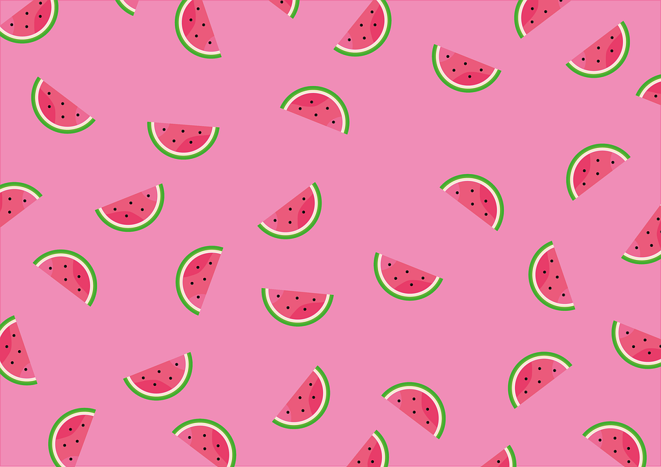 Watermelons, Slices, Pattern, Design, Seamless