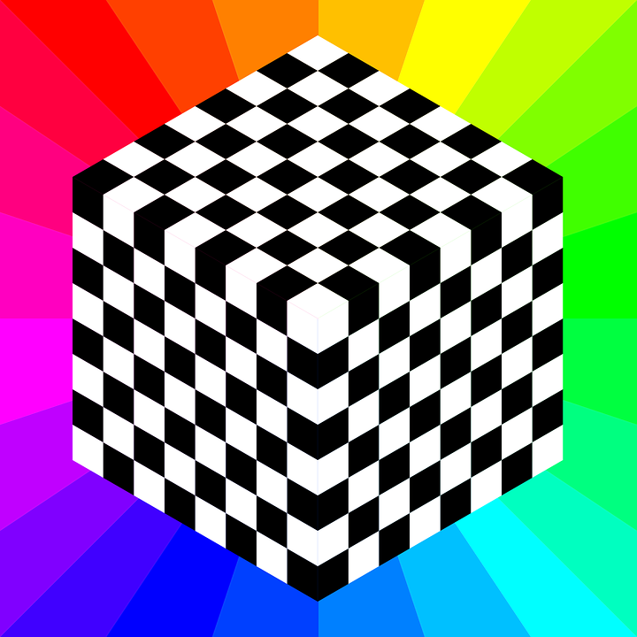 Chessboard, Pattern, Squares, Rainbow Colors